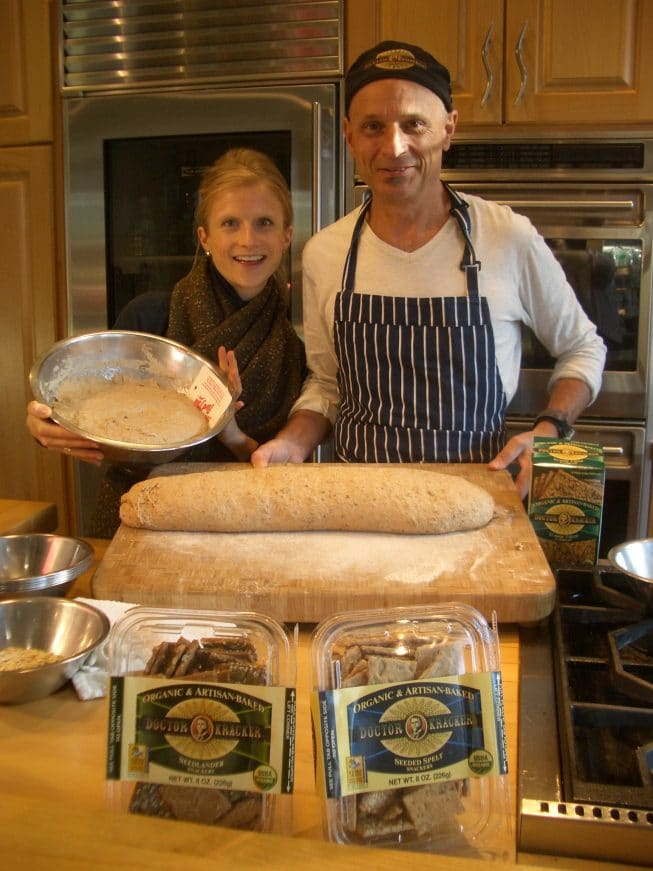 Amie and Dr. Kracker at a baking event.