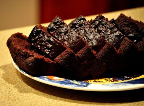 gluten free chocolate pound cake10