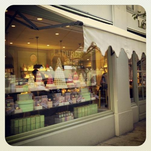 Instagram photo of Laduree shop window