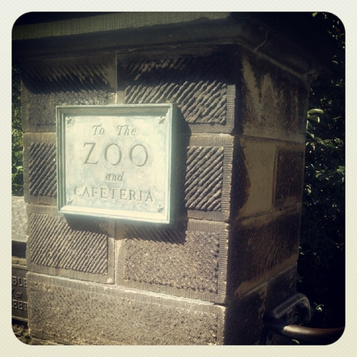 Instagram photo of Central Park Zoo sign
