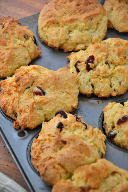 Gluten-Free Orange Cranberry Oatmeal Muffins