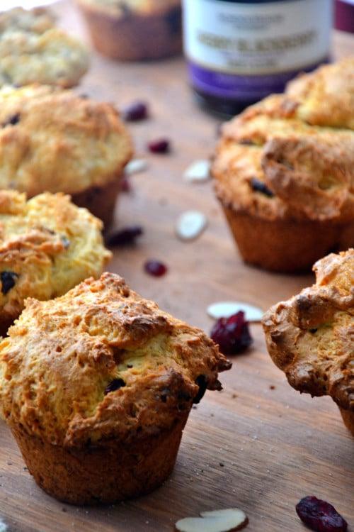Gluten-Free Orange Cranberry Oatmeal Muffins