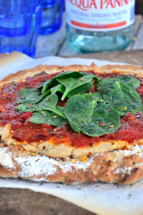gluten-free pizza . Yeppers and first gluten-free pizza dough that