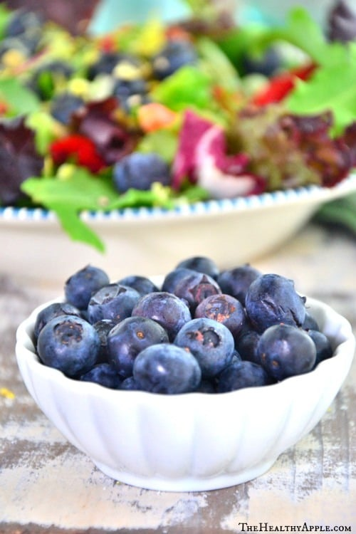 Blueberries with Coconut Cilantro Dressing