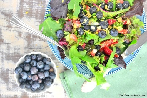 Blueberry Salad with Coconut Cilantro Dressing Ingredients