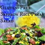 Gluten-Free Saffron Rice Pecan Salad