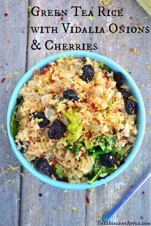 Green Tea Rice with Vidalia Onions & Cherries