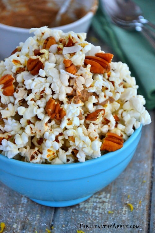Cashew-Butter- Pecan-Popcorn-Snack