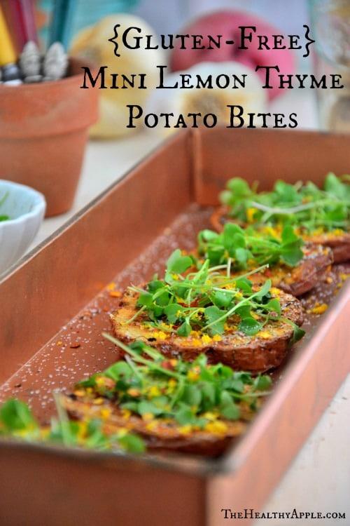 MiniLemon-Thyme Potato Bites