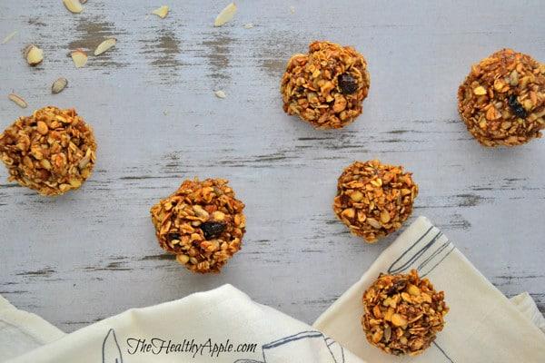 gluten-free sunflower seed cranberry balls