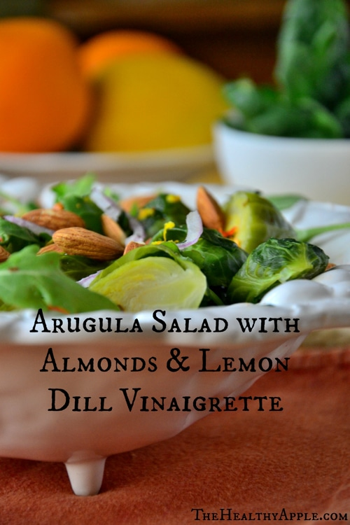 Arugula-Salad-with-Almonds-Lemon-Dill-Vinaigrette-Recipe