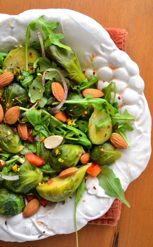 Arugula-Salad-with-Almonds-Lemon-Dill-Vinaigrette-Salad