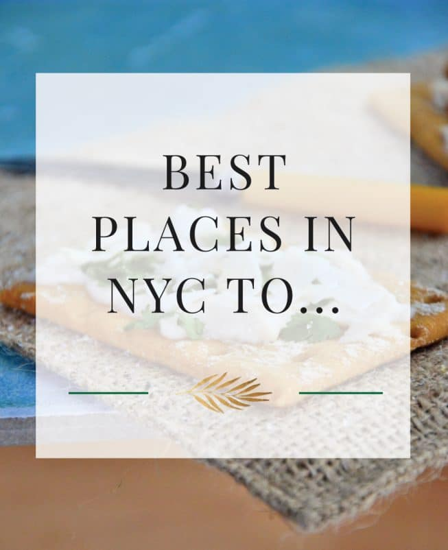 Best Places in NYC To...