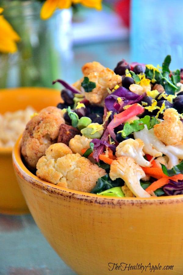 roasted-cauliflower-and-black-bean-buddha-bowl-with-basil-lemon-dressing-lunch