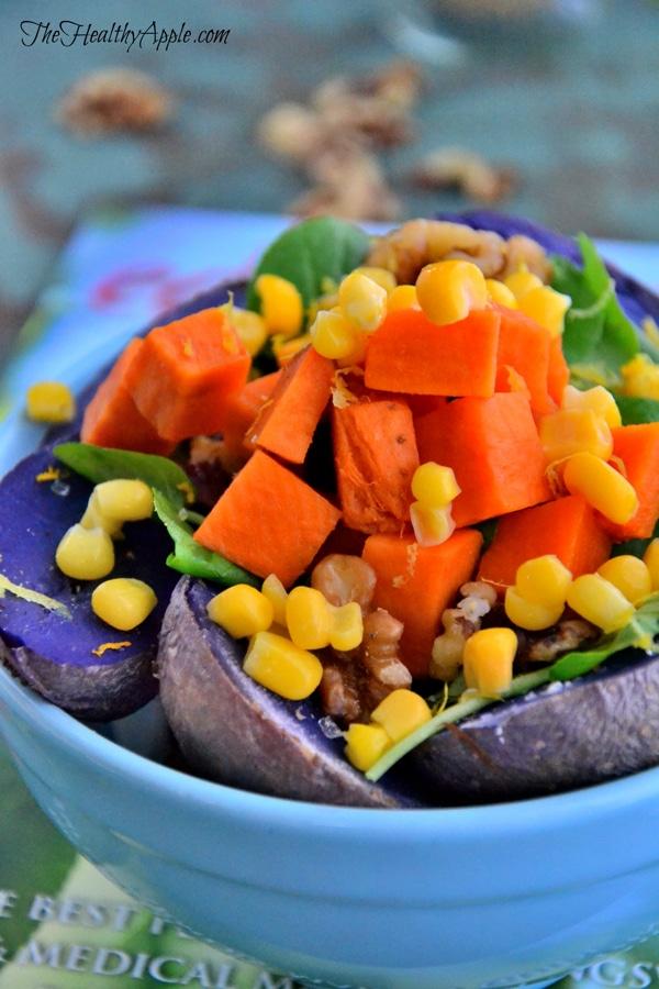 purple-potato-and-spinach-salad-with-walnuts-recipe