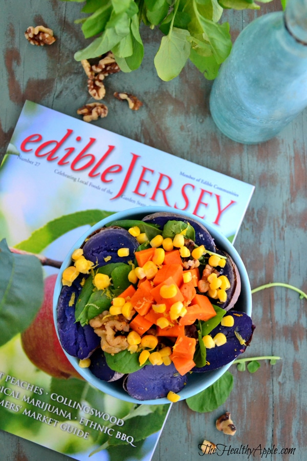 vegan-gluten-free-purple-potato-and-spinach-salad-with-walnuts
