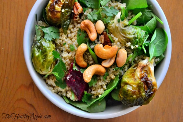 roasted-brussels-sprout-and-cashew-quinoa-salad-bowl