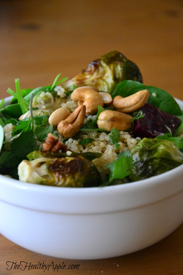 roasted-brussels-sprout-and-cashew-quinoa-salad-dinner