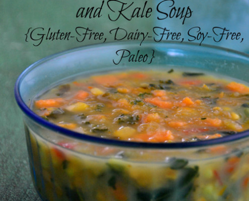 Easy Sweet Potato and Kale Soup {Gluten-Free, Dairy-Free, Soy-Free, Paleo}