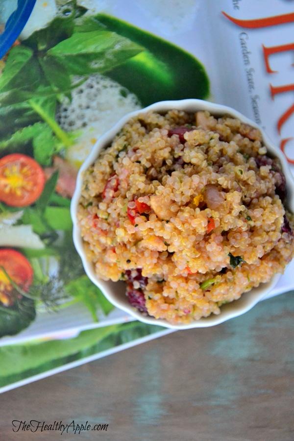 Gluten-free detox quinoa cranberry salad