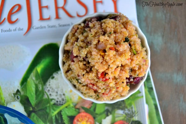 Gluten-free quinoa cranberry New Years detox salad