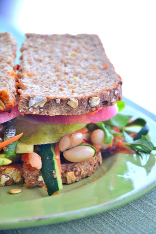 Nourishing Triple Layer Veggie Sandwich Gluten Free