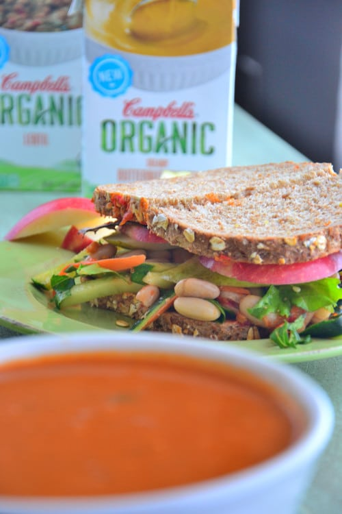 Nourishing Triple Layer Veggie Sandwich Vegetarian