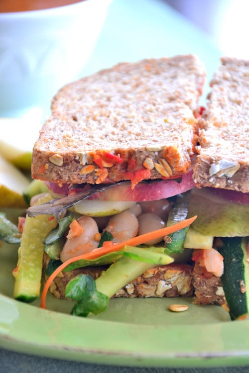 Nourishing Triple Layer Veggie Sandwich