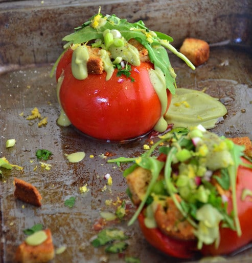 Celiac-Garden-Herb-Stuffed-Tomatoes-with-Creamy-Avocado-Drizzle