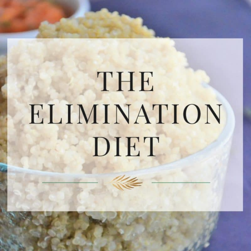 The elimination diet is an easy way to identify allergies and intolerance here with a bowl of quinoa.