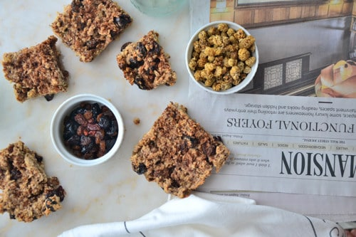 Allergy-Free-Autumn Baked Oatmeal Squares with Mulberries