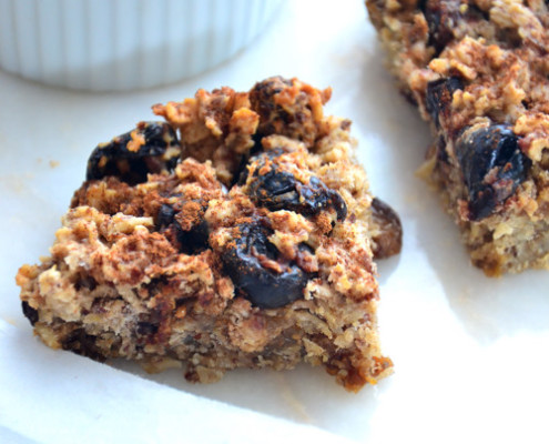 Autumn Baked Oatmeal Squares with Mulberries-Recipe