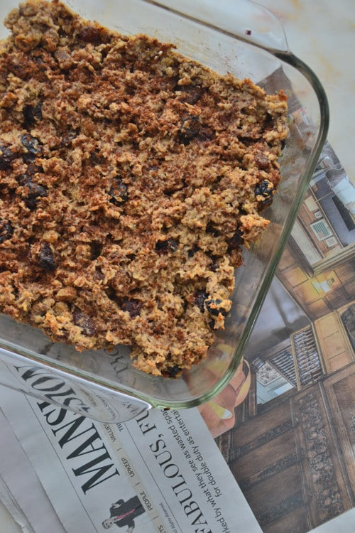 Autumn Baked Oatmeal Squares with Mulberries