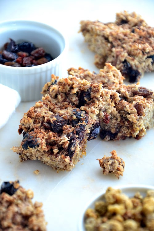 Clean-Eats-Autumn Baked Oatmeal Squares with Mulberries