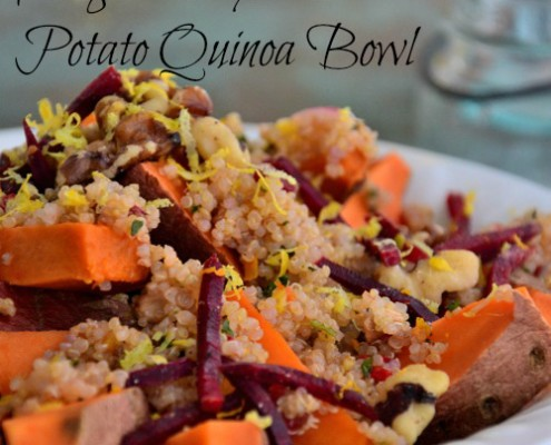 Magical Thyme Sweet Potato Quinoa Bowl