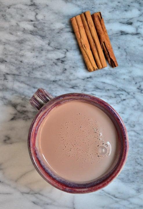 A mug of 'Creamy' Almond Milk Hot Chocolate