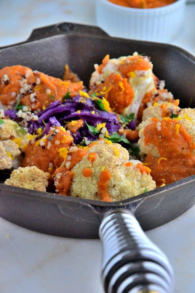 Perfectly Roasted Cauliflower with 'Creamy' Tomato Tahini Sauce ...