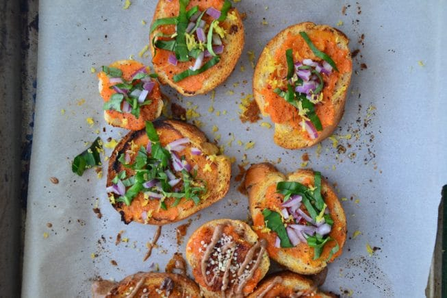Sweet Potato Bruschetta