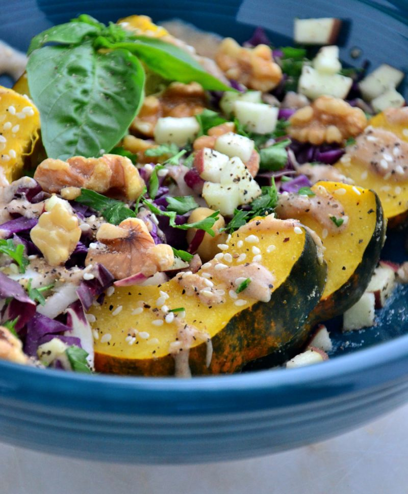 Clean eating detoxification anti inflammatory recipes appetizers acorn squash bowl with creamy cider and spice dressing gluten free dairy free soy free vegan paleo forumfinder Images