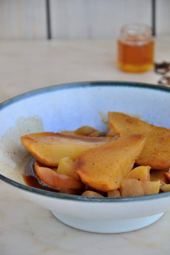 poached pears recipe yummly sauce paleo comfort foods poached pears ...
