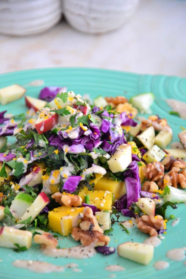 Butternut-Apple-Kale-Salad-with-Gorgeous-Oatmeal-Drizzle