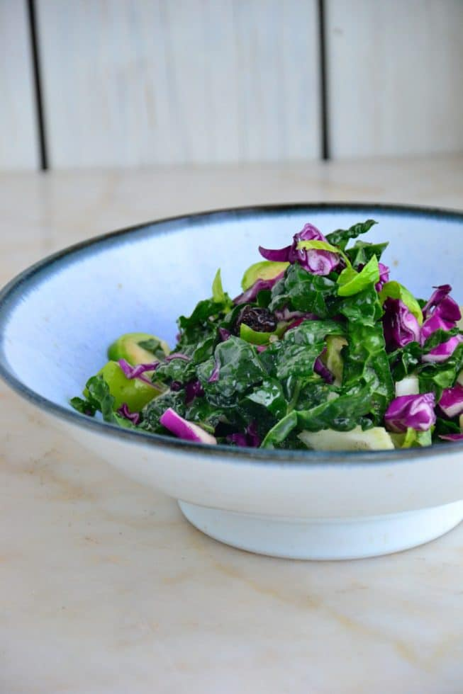 5fa73b4a6ebc Colorful Kale Apple   Fennel Slaw with Tart Cherries  Gluten-Free ...