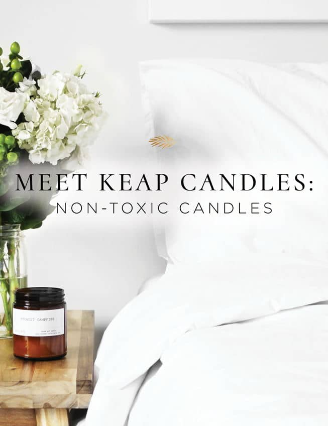 Keap non-toxic candles are made without toxins and are beautiful!