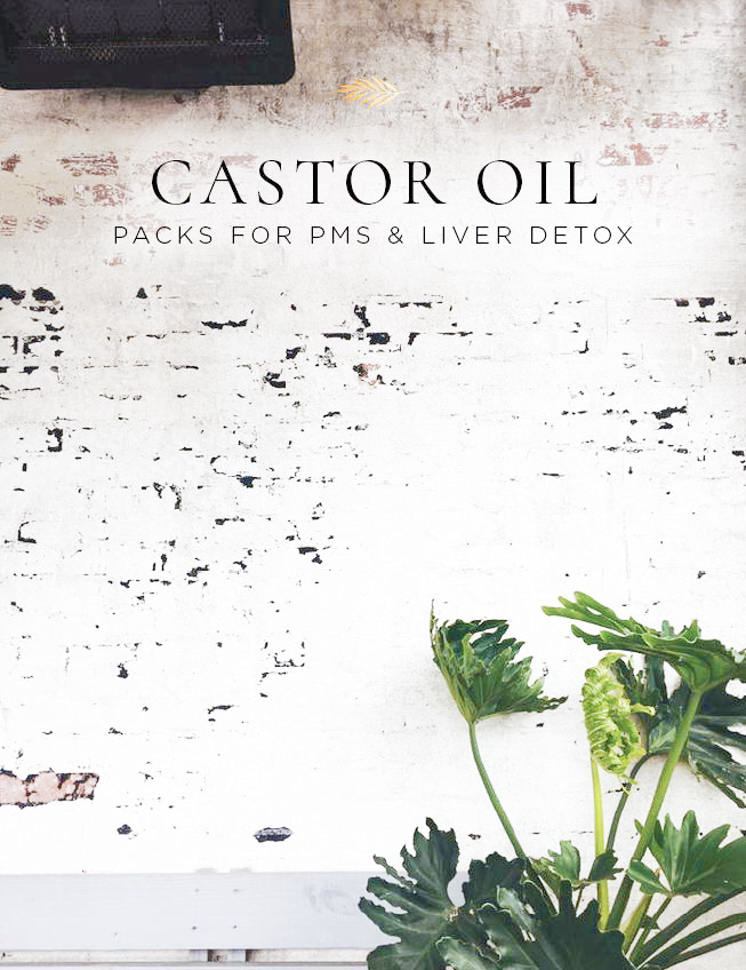 castor oil packs for PMS and liver detox